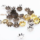 New Wholesale Iron Plated Round Flower End Bead Caps Jewelry Findings 9mm