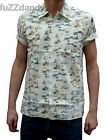 NEW Mens retro vtg 50s indie SHIRT preppy safari 60s mad short sleeve Beige men