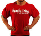 RED HARDCORE WORKOUT TOP BODYBUILDING CLOTHING L-141