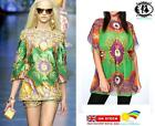 LADIES BEACH TOP SCARF PRINT BLOUSE SHEER TUNIC SUMMER MINI DRESS KIMONO KAFTAN