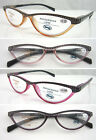 (R323H) Plastic Reading Glasses with H8 Hard Case. Spring. Laser-cut Print.