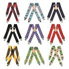 BRIMARC MENS HEAVY DUTY METAL CLIP WIDE WORK TROUSER BRACES 42 ASSORTED PATTERNS