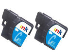 2 Brother LC1100 Cyan Printer Ink Cartridges