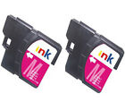 2 Brother LC1100M Magenta Printer Ink Cartridges