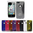 NEW SILICONE S-LINE WAVE GRIP GEL CASE FITS APPLE IPHONE 5 FREE SCREEN PROTECTOR