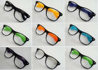 Unisex Designer Black Geek Nerd Frame Glasses Decor Gift accessories Fancy Dress