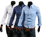 ST132 New Mens Casual Slim Fit Stylish Dress Shirts 3 Colours 4 Size