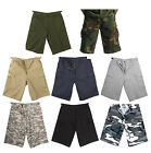 Military Camouflage - Solid Combat Cargo Fatigue Army Shorts Extra Long Short