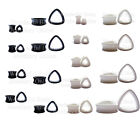 1 x Black or White Triangle Acrylic Ear Tunnel Flesh Plug Gauge Teardrop Stretch