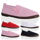 Womens New Classic ladies Casual Flat Loafers Plimsolls Pumps Shoes Size 3-8