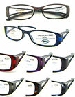 (R348H)Plastic Frame reading glasses in 8 different colours included case
