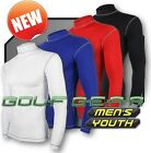 Mens Boys Golf Compression Base Layer Shirt Long Sleeve Thermal Under Sport Top