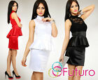 NOW ♥ Women's High Elegant Dress ♥ Lace Satin Jersey Cocktail Size 8-14 FK1163