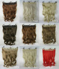 "New 24"" body wave clip in hair extensions hairpiece hair pieces accessories 130g"