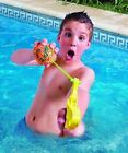 11 Pc Splash Attack Kids Water Bomb Slingshot / Catapult- Soft Sponge
