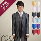 Boys Grey Suit, Boys Pageboy Outfit, Boys 4pc Tie Suit, Boys Grey Wedding Suit