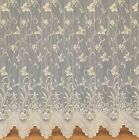 BUTTERFLY CREAM LUXURY NET CURTAINS FOR WINDOWS,ASSORTED DROPS,SOLD BY THE METRE