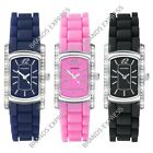 Sekonda Party Time Stone Set Rubber Strap Ladies Watch Black Pink