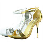 Elegant Stiletto High Heel Evening Ankle Strap Sexy Rhinestone Sandal Women Shoe