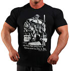 MENS COTTON MUSCLE BLACK BOOK OF PAIN BODYBUILDING T-SHIRT WORKOUT GYM CLOTHING