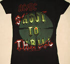 ACDC Babydoll Shoot To Thrill Back In Black Target Juniors Shirt NEW S M L XL