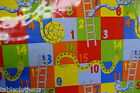 SNAKES AND LADDERS PVC WIPE CLEAN OILCLOTH WIPEABLE TABLE CLOTH click for sizes
