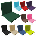 Back & Seat Outdoor Water Resistant Chair Pad Cushion Garden Patio Furniture