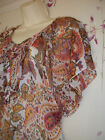 Floaty Top  floral paisley chiffon  Gypsy hippy boho Plus
