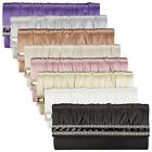 Womens New Satin Ladies Diamante Bridal Prom Evening Formal Clutch Bag Handbag
