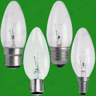 100x Clear Candle Dimmable Standard Light Bulbs 25W 40W 60W BC ES SBC SES Lamps