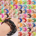 Silicone Wristbands Wrist Bands Rubber Bracelets Stretchy Elastic Solid Colours