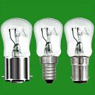 6x 15W Dimmable Clear Pygmy Light Bulbs, BC, B22, SBC, B15d or SES, E14 Lamps