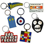 PVC/Enamel Keyrings. Retro Novelty Various Designs Cool Funky Small Gift