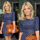 New Womens Celebrity Style Polka Dot Bodycon Slim Party Dress Summer Tunic-OPD