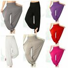 New Women Colorful Yoga Belly Dance Boho Cotton Wide Trousers Long Pants 4 Sizes