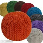 Hand Knitted Pouffes Round Sphere Chunky Footstools Ideal Decorative Seat Chair