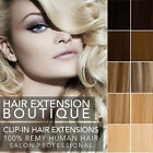 Clip In Remy Human Hair Extensions Full Head Deluxe Ultimate - Many Colours