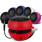 RED COMPACT 3.5MM CAPSULE SPEAKER FOR MOST MOBILE PHONES