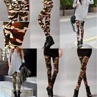 Women's Army Combat Camo Military Stretch Skinny Pencil Leggings Pants Trousers