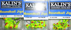 KALIN'S ROUNDBALL CHART JIGHEAD FISHING LURE CHOICE OF QUANTITY 1/32 1/16 1/4 oz