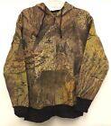 NEW Mossy Oak BRUSH Camouflage Men's Zip Up Light Fleece Hoodie Sweatshirt S M