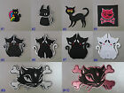 Cat Iron On/ Sew On Cloth Patch Badge Appliqué cute pet feline puss kitten kitty
