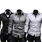 New Mens Long sleeve Luxury Casual Slim Fit Stylish Dress Shirts 3 Colors 4 size