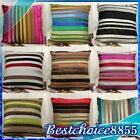 SOFT LUXURY COLORFUL DECORATIVE STRIPES VELVET THROW PILLOW CASES CUSHION COVERS