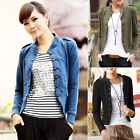 Sexy Slim Fit  Stand-up Collar Double Breasted Short Coat Casual Jackets