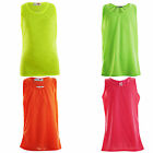 Girls Neon Colours Vest Kids Bright Colours Sleeveless Tops Age 7-13 Years