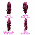 PONYTAIL Clip In Hair Extensions Rich Wine #35 REVERSIBLE 4 Styles Claw Clip