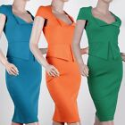Elegant Women Sexy Zipper Split  Wiggle Bodycon Pencil Evening Party Dress Y433