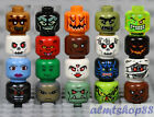 LEGO - Minifigure Heads Assorted Lot - Faces Monster Zombie Skulls Halloween