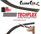 3 meters - Techflex Clean Cut Fray Resistant  Braided Expandable Cable Sleeving